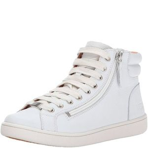 UGG Women's Olive Lace-Up Sneakers White 11M